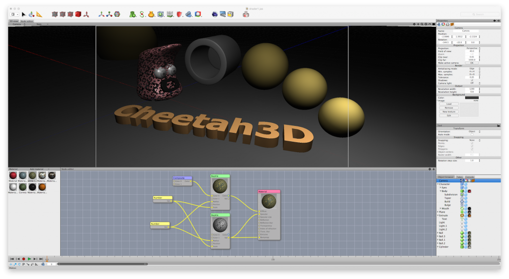 Cheetah3D Screenshot
